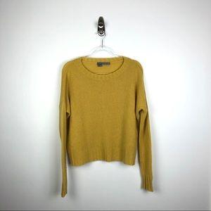 360 Cashmere | 100% Cashmere Boxy Sweater Mustard